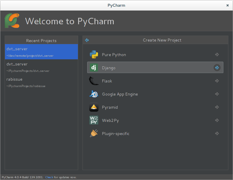 how to create django project in pycharm community edition